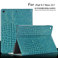 Luxury High Quality Crocodile Leather Case For IPad 9 7 New 2017 A1822 Smart Case Cover