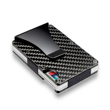 Carbon Fiber Clip Ultra-Thin Metal Wallet Business Can Accommodate Multiple Debit and Credit Cards carteira Full size 20