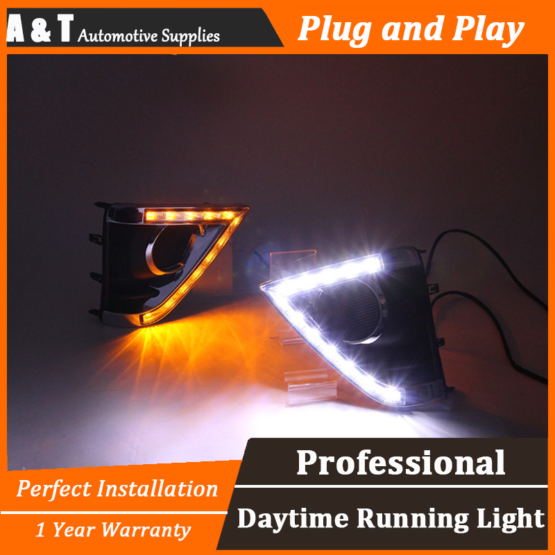 car styling For Toyota YARiS L LED DRL For YARiS L High brightness guide DRL led fog lamps daytime running light Two color car styling for honda vezel hrv led drl for vezel hrv led fog lamps daytime running light high brightness guide led drl