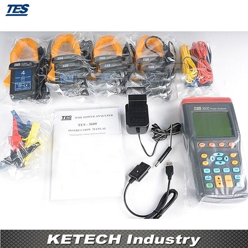 Hot sale tes3600 new 3 phase power analyzer tes-3600 penissockcbg.