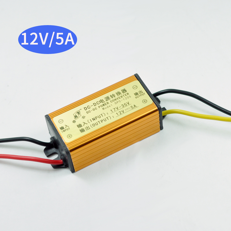 DC-DC 17V-35V 24V TO 12v 5A Buck Converter Step-down power module CAR LED power Waterproof and dustproof Vehicle LED инверторы и преобразователи dc dc buck converter dc dc 24v 12v 1 5a 200584 24v to 12v car buck converter