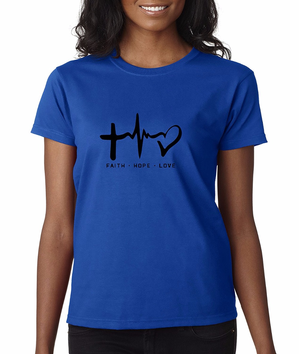 Design t shirts to sell - Women T Shirt 2017 Summer Cool T Shirts Designs Best Selling Women Faith Hope Love