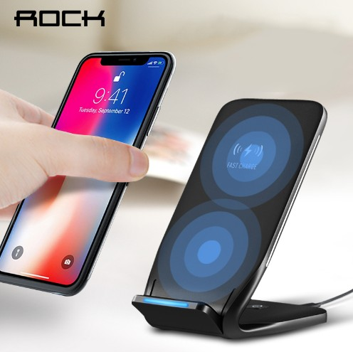 W3 Dual Coil Qi Wireless Charger Charger 10W for iPhone 8 10 X Samsung Note 8 Phone Fast