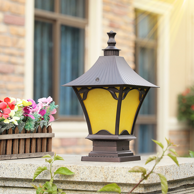 Outdoor pillar lamp doorpost wall light enclosure villa courtyard landscape lighting waterproof chapiter fixture garden parking image