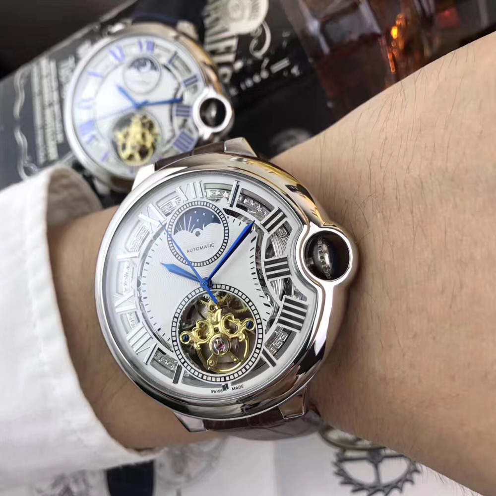 лучшая цена Mens Watches Top Brand Runway Luxury European Design Automatic Mechanical Watch S0704