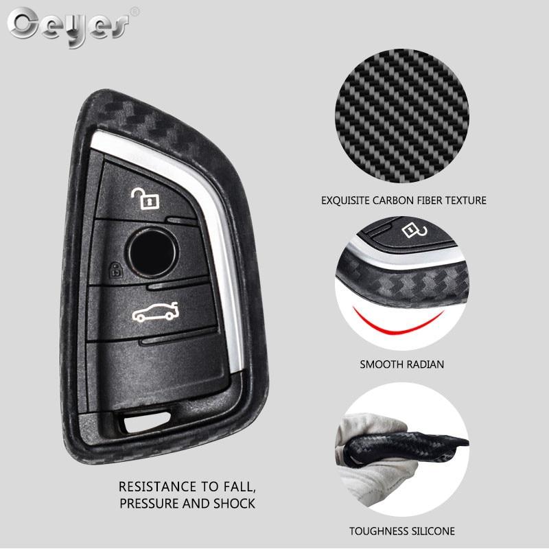 Carbon fiber key cover for BMW  (11)