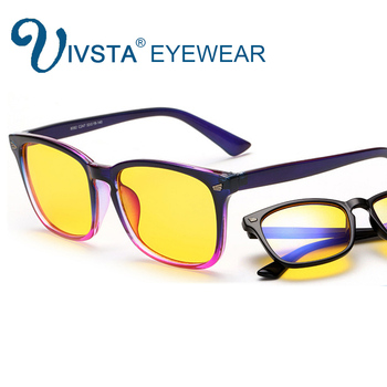 IVSTA Anti Blue Rays Computer Glasses Men Radiation-resistant Gaming Glasses Women anti fatigue yellow lenses Eyewear 8082 fashion unisex anti blue rays computer goggles reading glasses 100% uv400 radiation resistant glasses computer gaming glasses