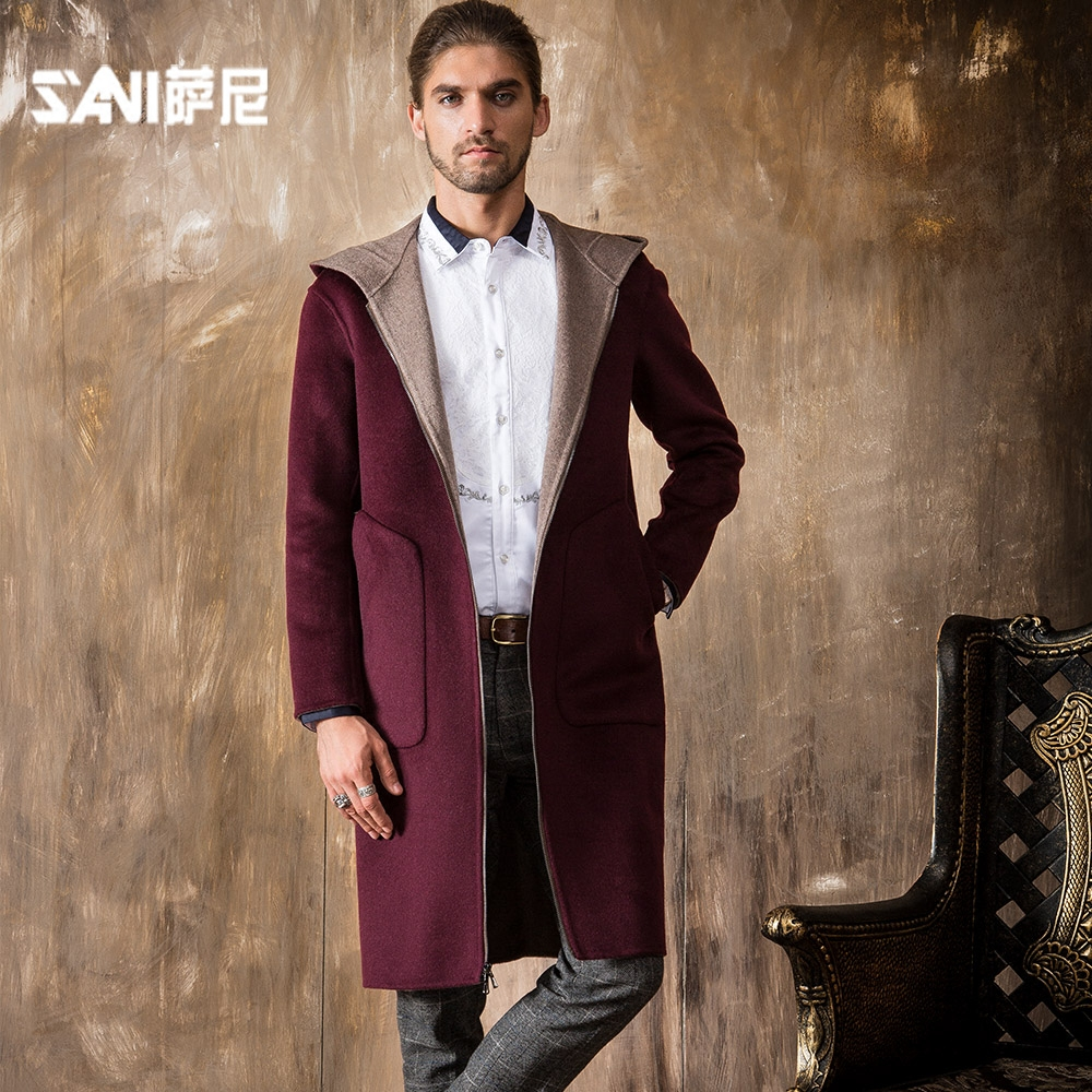 Aliexpress.com : Buy Men 100% Wool Coat Woolen Coat Male Winter ...