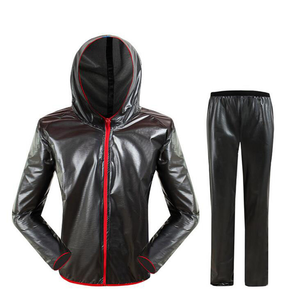 Waterproof Motorcycle Cycling Jackets Pants Sets Men Women Outdoor Sports Rainproof Motor Rain Jacket Motorcycle Raincoat Set