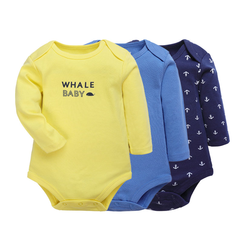 Baby Bodysuits 2 3 Pieces Cartoon Baby Girls Boys Clothes Long Sleeves Cotton Spring Autumn Jumpsuit NewBorn Baby Ropa 6 24M in Bodysuits from Mother Kids