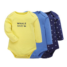 Baby Bodysuits 2 Pieces Cartoon Girls Boys Clothes Long Sleeves Cotton Spring/Autumn New Born Body Ropa 6-12M