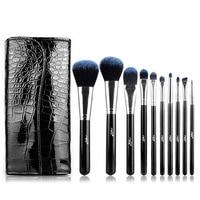 MSQ STB10b1 Professional 10pcs Set Facial Makeup Brushes Powder Blusher Cosmetics Makeup Brushes Tools Essential Eyeshadow