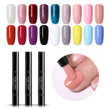 NICOLE DIARY Gel Nail Polish 56 Warna UV Gel Satu Langkah Nail Varnish Laccqer Pen 3 In 1 Nail Art warna Gel Rendam Off(China)