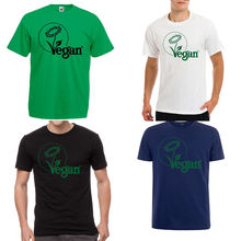 VEGAN Vegetarian symbol logo white t-shirt New T Shirts Funny Tops Tee New Unisex Funny Tops 2018 New Arrival Men'S Fashion new vegetarian ckg everyone