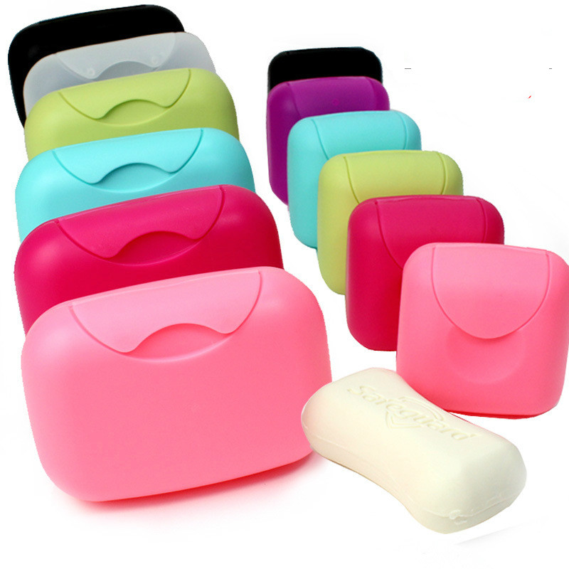 Creative Travel Soap Box Waterproof Leak-proof Hotel Soap Box Cover With Lock Handmade Soap Case Dishes Wholesale