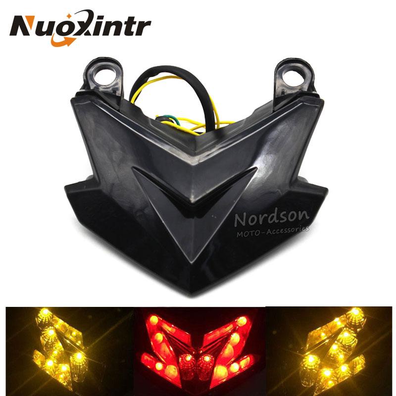 Smoked Black Motorcycle Brake Tail Light Turn Signal Light For Kawasaki Z800 Z125