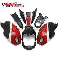 Красные, черные Новая мотоциклетная обувь Обтекатели для Ducati 696 796 795 1000 1100 2009 год 2010 2011 впрыска ABS Пластик обтекатель комплект крышка