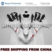 YZF R1 2009 2010 2011 Motorcycle ABS Plastic Mold For Yamaha YZF R1 09 10 11 Injection Fairing Kit PEARL WHITE