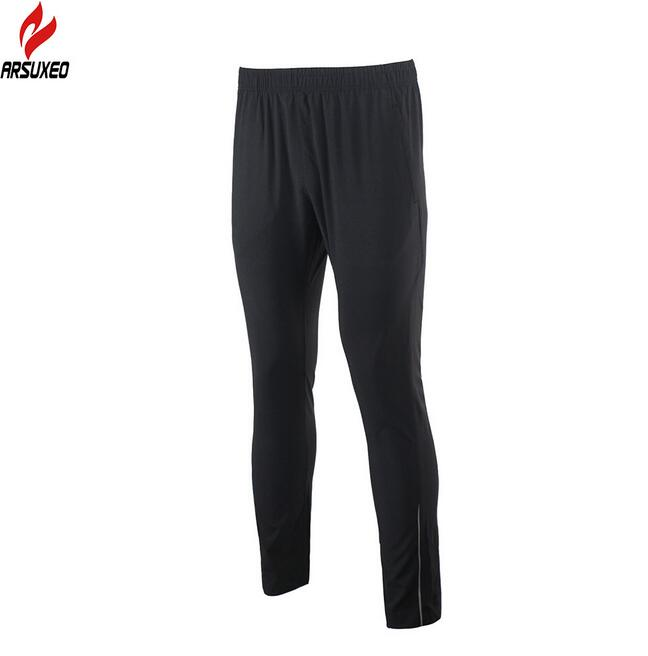 ARSUXEO Mens Sports Running Pants Training Soccer Exercise Workout GYM Pants Quick Dry Pockets