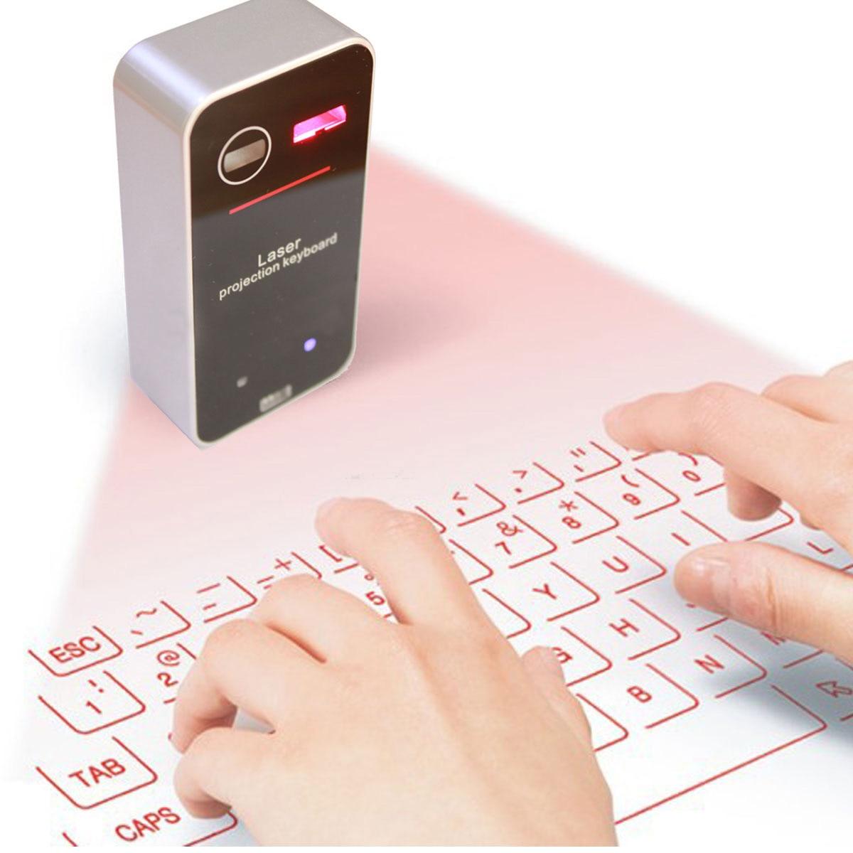 Hongsund Bluetooth Laser Projection Keyboard Virtual Keyboard For Smartphone PC Tablet Laptop Computer English QWERTY Keyboard