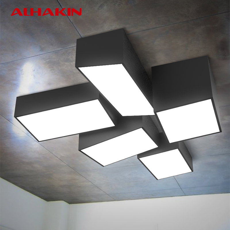 Alhakin Modern Ceiling Mounted Lamps 24 42w Black And White Living Room Ceiling Lamp Indoor