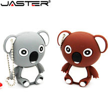 JASTER Animal koala 64 GB GB 32 16 GB usb pendrive USB flash drive pen drive U disco Bonito criativo dom memory stick com chaveiro(China)