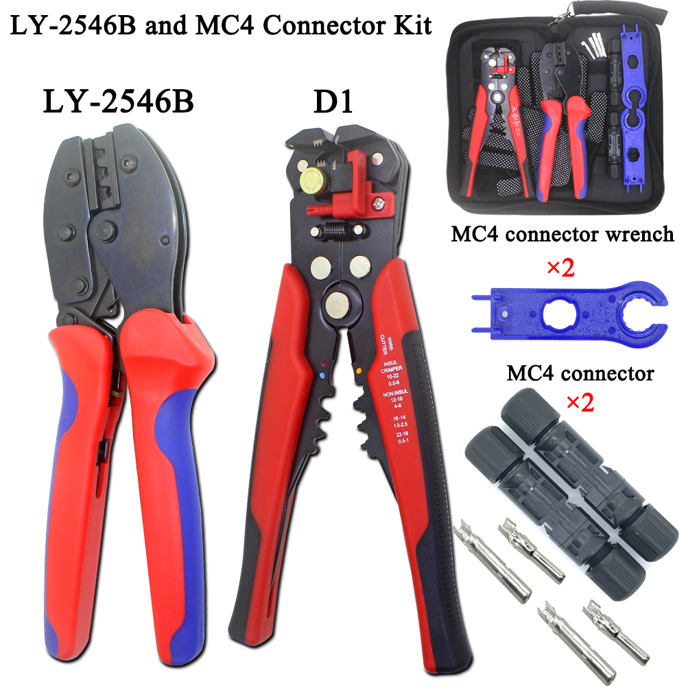 CNLX LY-2546B MC4 pliers line photovoltaic capacity 2.5 / 4 / 6mm2 14-10AWG connector set solar D1 line cutting tool