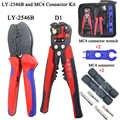 CNLX LY-2546B MC4 pince ligne photovoltaïque capacité 2.5/4/6mm2 14-10AWG connecteur ensemble solaire D1 ligne outil de coupe