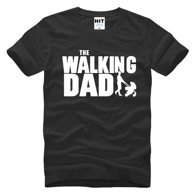 The Walking Dad Fathers Day Gift Funny Mens Short Sleeve O T Shirt Size S-3XL