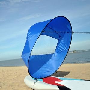 "Image 1 - 42 ""/108 Cm Zeil Opvouwbare Kajak Boot Wind Zeil Kano Sup Paddle Board Met Clear Window Drifting Varen accessoire"