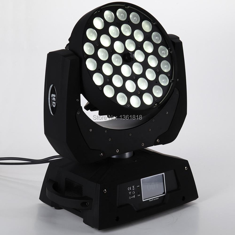 (1 pièces/lot) led lavage RGBWA led zoom faisceau tête mobile stade lumière dynamique cercle Section contrôle dmx 36x12 w led zoom lavage lumière