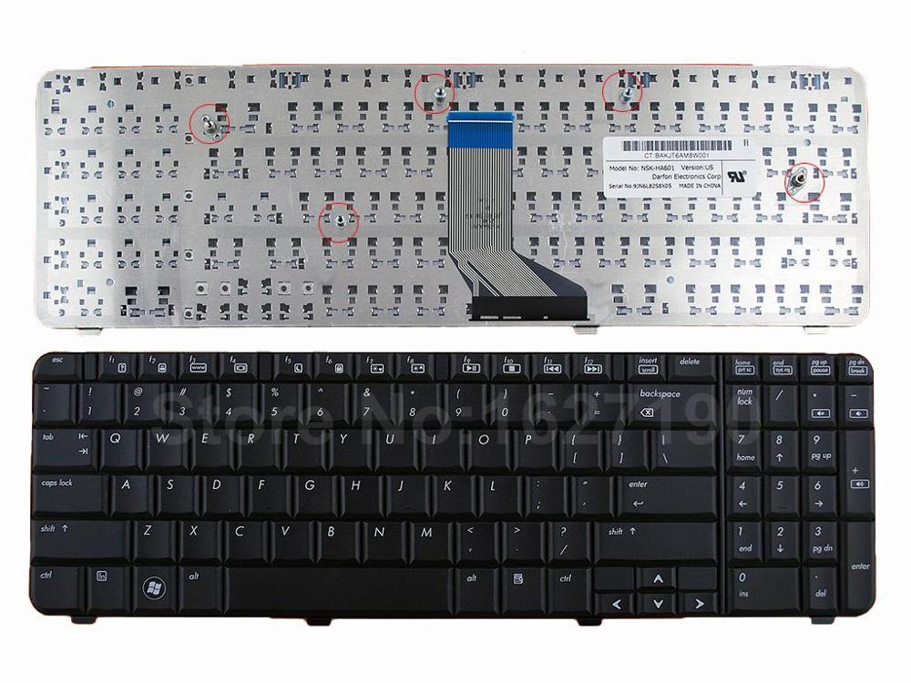 США клавиатура для HP CQ61 G61 черный новый ноутбук клавиатуры 0P6 NSK-HA601 9J. N0Y82.601 AE0P6U00310 0P6A AE0P6U00410 SG-33500-XUA SN50 ...