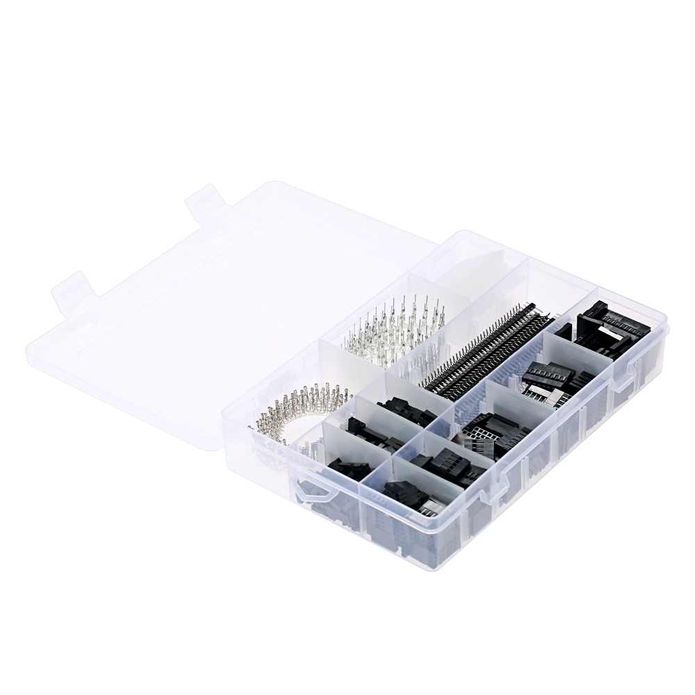 1450PCS 2.54mm PCB Jumper Wire Pin Header Connector Female Male 40 Pin Box Electronic Components Set for Arduino Dupont 1000pcs dupont jumper wire cable housing female pin contor terminal 2 54mm new