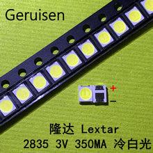 1000 pçs/lote LEXTAR 2835 3528 1210 3 Original V 1w-2W SMD LED Para Reparação Backlight TV LCD Backlight branco Frio LEVOU