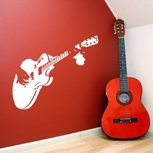 Home Art Mural Guitar Guitarist  Wall Decal Vinyl Room Sticker Perfect Quality Music Design Decor AY658