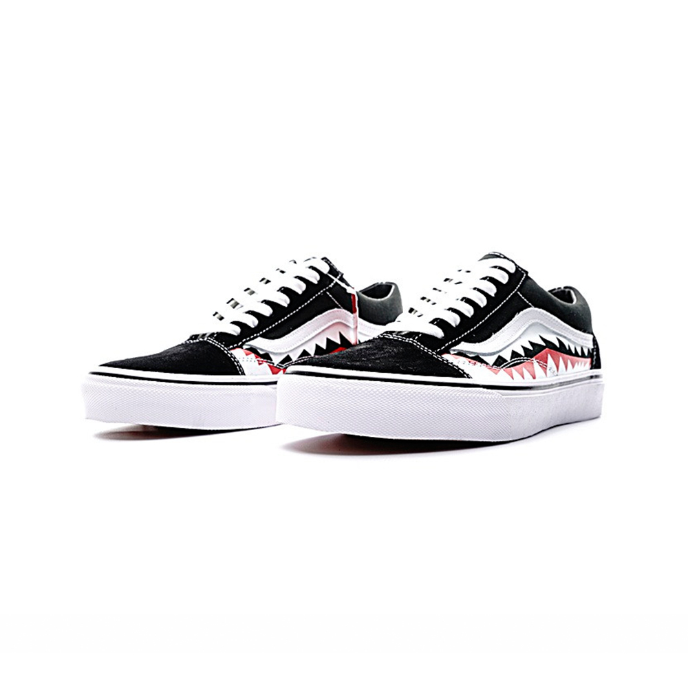 11369dccd9b0d6 Original Vans Sneakers Men s Women s Classic X Bape Sharktooth Custom Bape  Skateboarding Shoes Sneakers Canvas Shoes VN0AY8Z7BPW-in Skateboarding from  ...