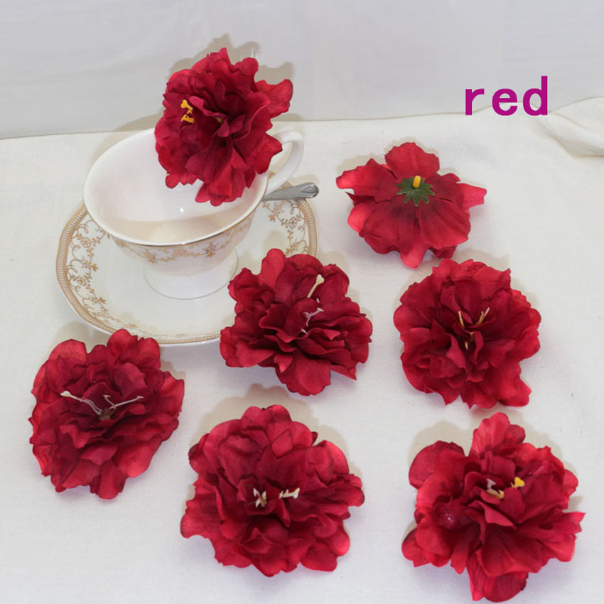 30 pieces lot peony artificial fake silk flower heads for Artificial flower for wedding decoration