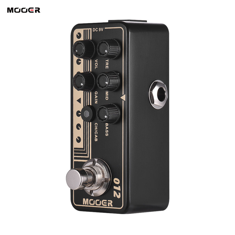 Mooer MICRO PREAMP Series 012 US GOLD 100 British Style Digital Preamp Preamplifier Guitar Pedal 3