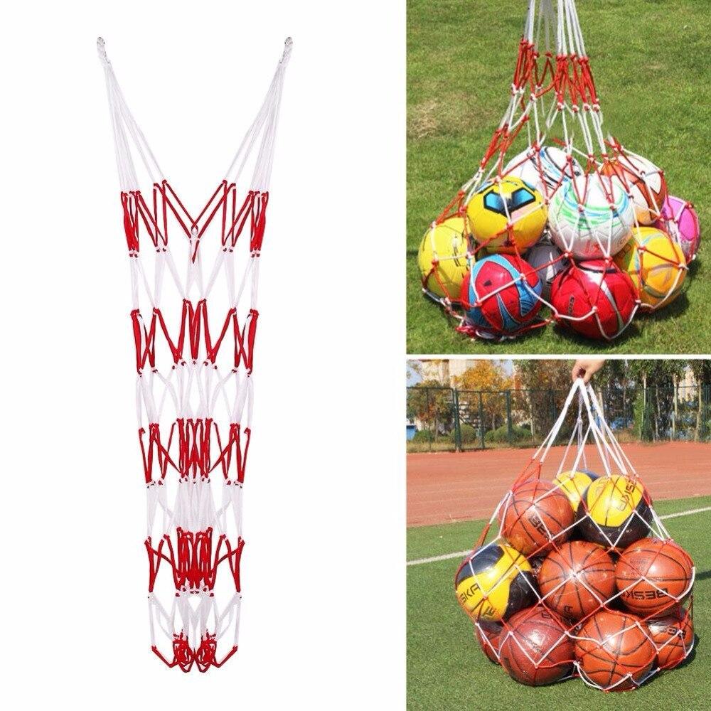 Outdoor Sport Ball Net Bag Soccer Basketball Mesh Net 10 Balls Carry Net Bag Sports Portable Balls Volleyball