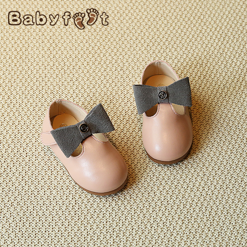 2017 Babyfeet brand low top waterproof infant children casual loafers leather sneaker toddler Shoes princess Bow Baby Girl shoes new babyfeet toddler infant first walkers baby boy girl shoe soft sole sneaker newborn prewalker shoes summer genuine leather
