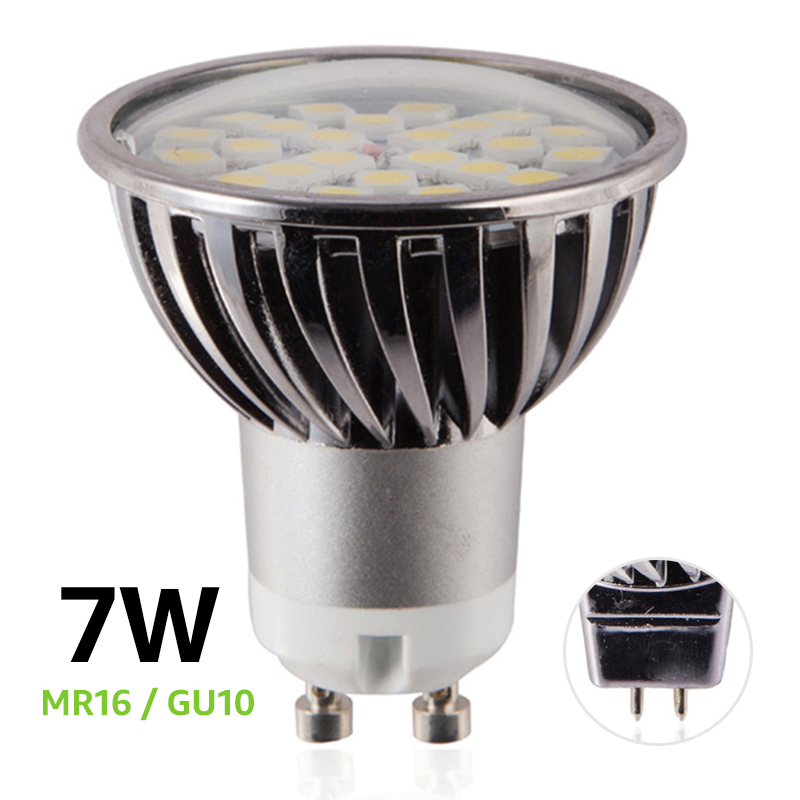LED Lamp GU10 7W 220V LED Spotlight MR16 12V SMD5050 Dimmable LED bulb Aluminum Warm/Cold White LED Spot Light high power 3w 5w 7w led spot light dimmable e27 e14 gu10 cob spotlight lamp bulb mr16 12v warm cold white ac85 265v bulb lamps
