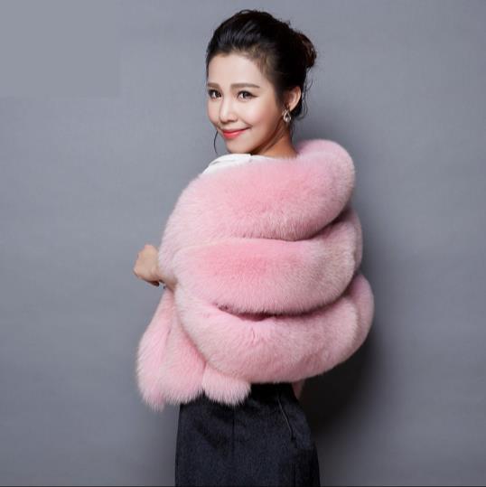 Furry Vison Hiver Taille Veste Femmes Q931 Femme Manteau De Faux Plus Outwear Artificielle 2019 Fourrure La 8p1wnH8