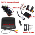 FPV Combo 5.8Ghz FPV System 700TVL camera w/gimbal 5.8Ghz Rx and 200mw Tx and 800x480 Monitor For FPV Quadcopter
