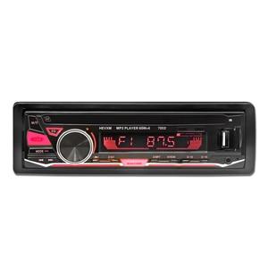 12V Bluetooth Car Radio Player Stereo FM MP3 Audio 5V-Charger USB SD MMC AUX Auto Electronics In-Dash Autoradio 1 DIN NO CD