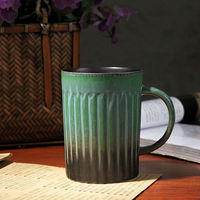 Handmade High Quality Classical Ceramic Mugs Vintage Style Retro Gradient Ceramic Coffee Mugs Cups Drinkware Gifts