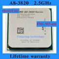 Пожизненная гарантия A8 3820 2.5 ГГц 4 м четырехъядерные процессоры настольных процессоров процессора Socket FM1 905 контакт. компьютер