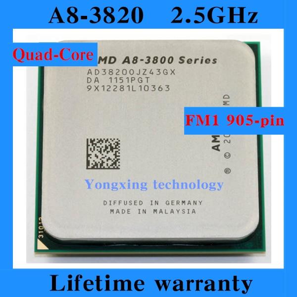 ФОТО Lifetime warranty A8 3820 2.5GHz 4M Quad Core desktop processors CPU Socket FM1 905 pin Computer