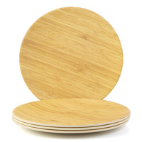 High Quality Bamboo Fiber Plates Bamboo Grain Pattern Tableware Plate Handmade sushi Western food Dish dinnerware For Camping