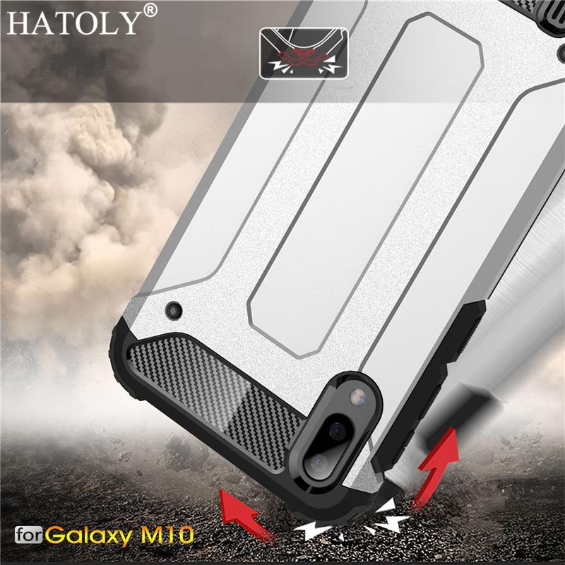 For Cover Samsung Galaxy M10 Case Silicon Rubber Armor Shell Hard Phone Case For Samsung Galaxy M10 Cover For Samsung Galaxy M10