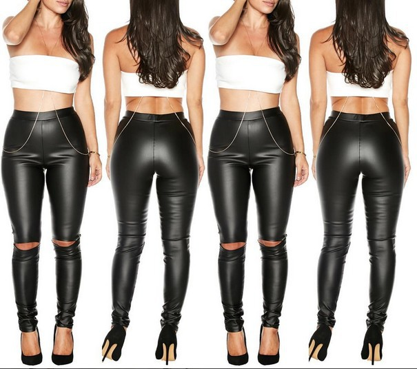 Popular Black Leather Skinny Jeans-Buy Cheap Black Leather Skinny
